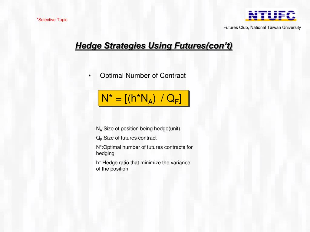 Trading strategies using futures