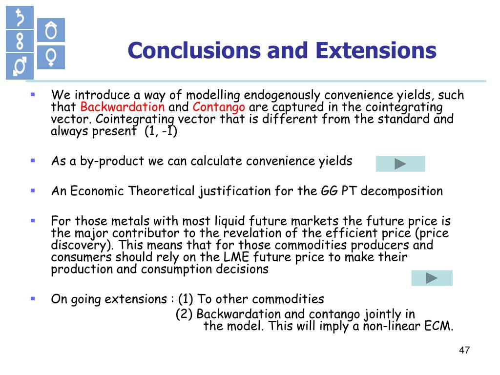 Conclusions and Extensions