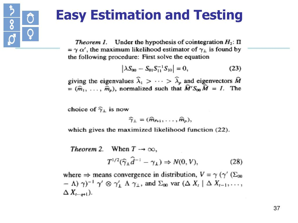 Easy Estimation and Testing