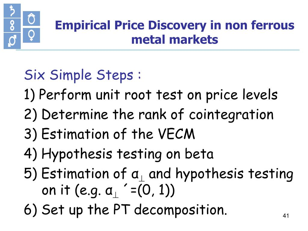 Empirical Price Discovery in non ferrous metal markets
