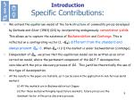 introduction specific contributions