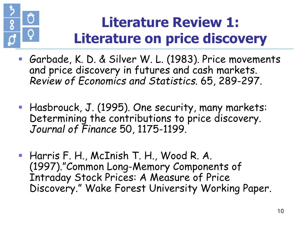 Literature Review 1: