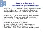 literature review 1 literature on price discovery