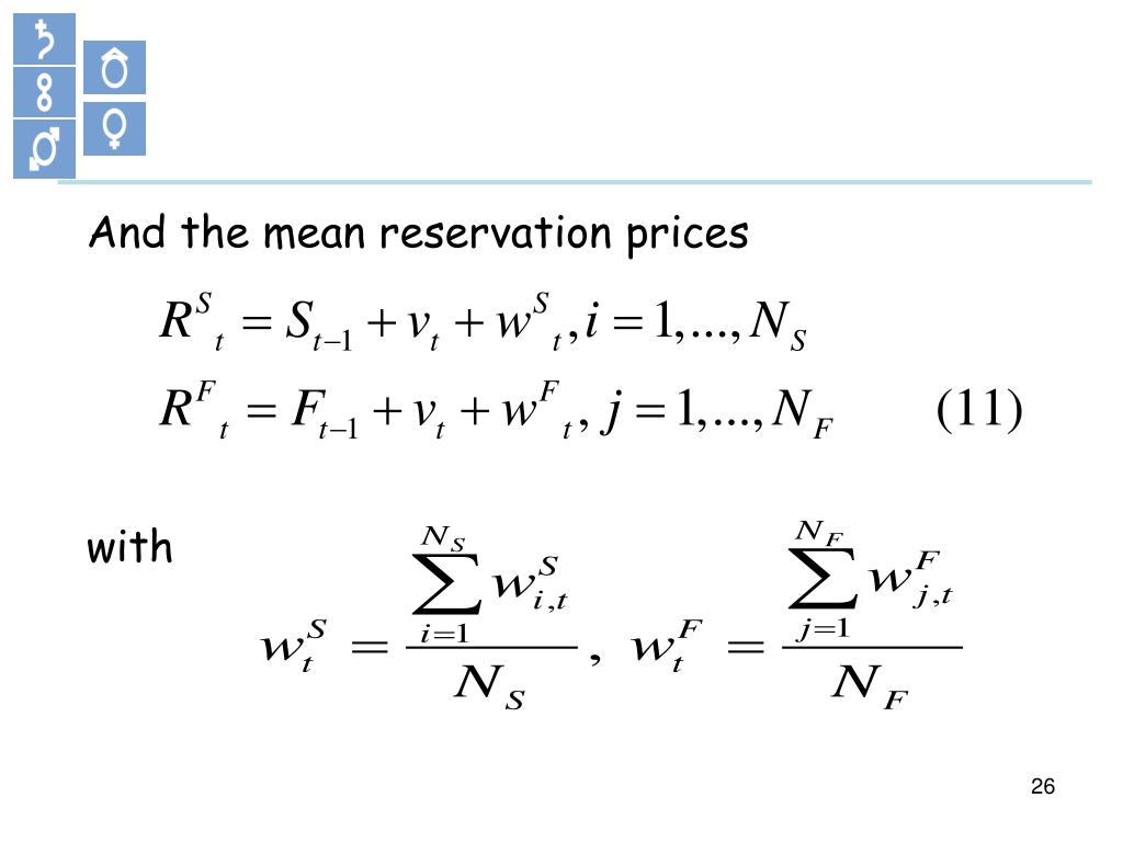 And the mean reservation prices
