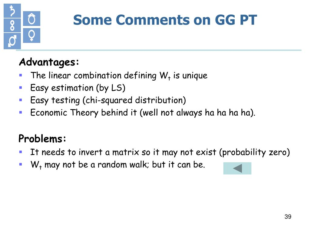 Some Comments on GG PT
