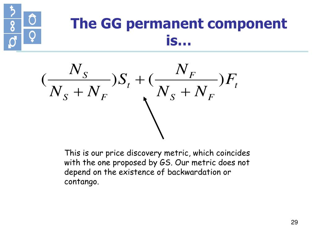 The GG permanent component is…