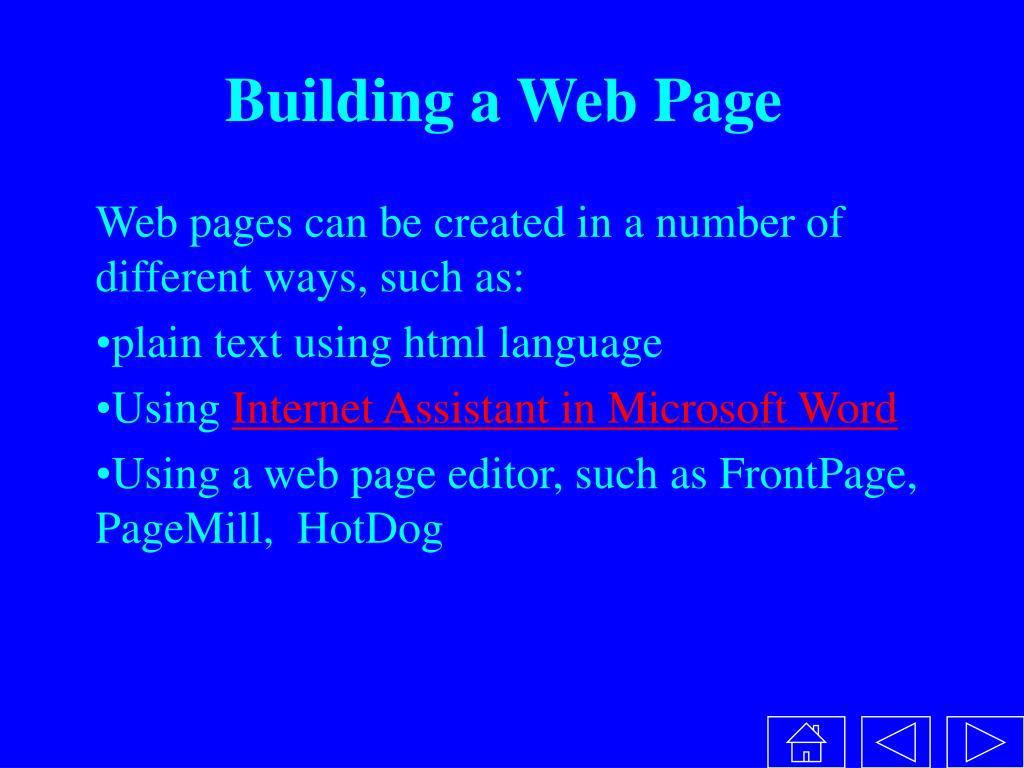 Building a Web Page