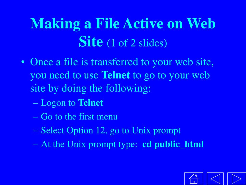 Making a File Active on Web Site