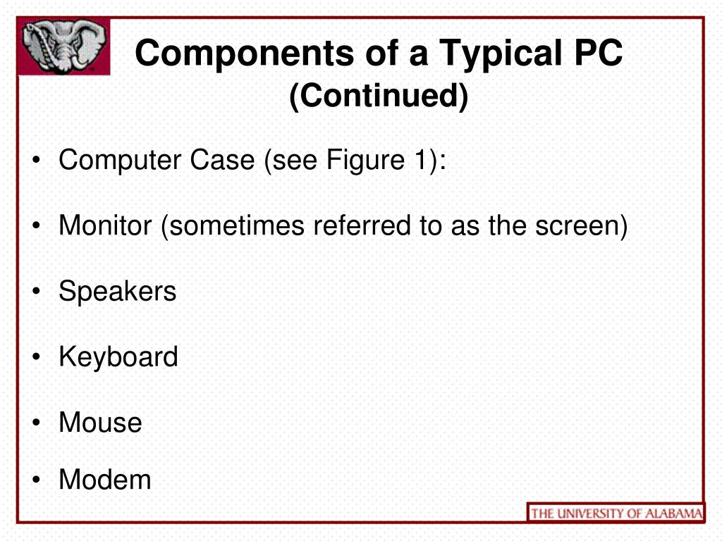 Components of a Typical PC