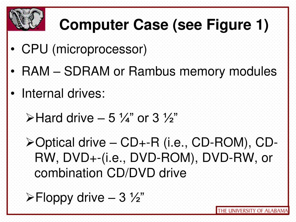 Computer Case (see Figure 1)
