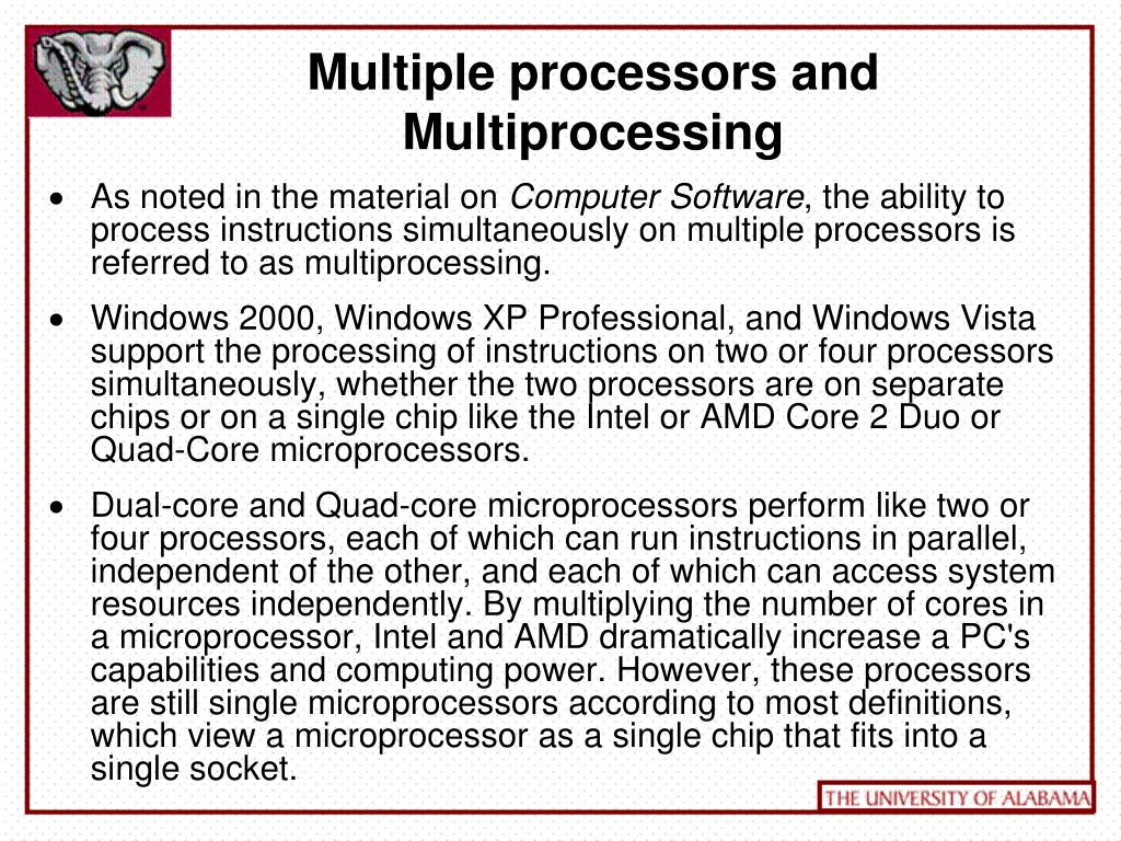 Multiple processors and