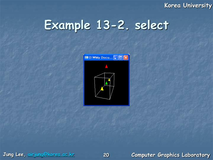 Example 13-2. select