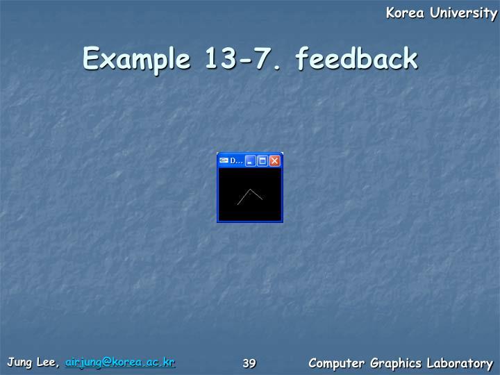 Example 13-7. feedback