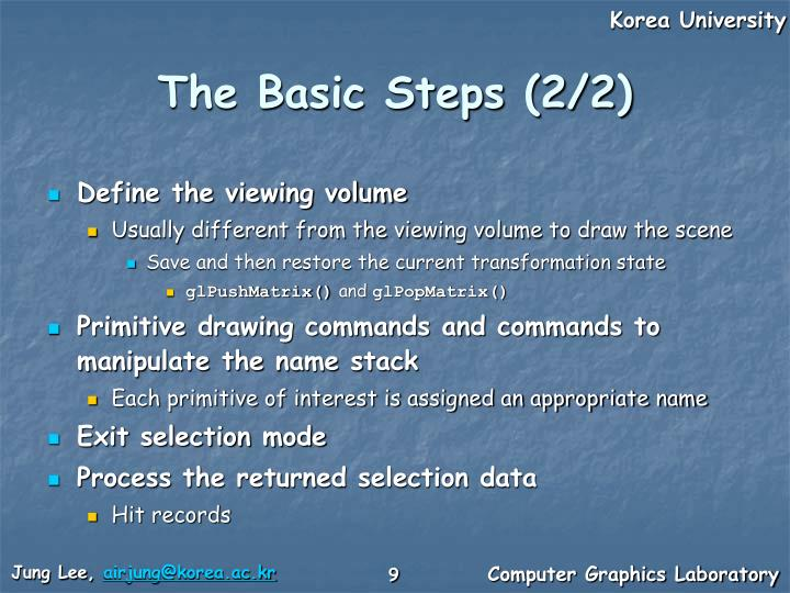 The Basic Steps (2/2)