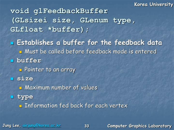 void glFeedbackBuffer