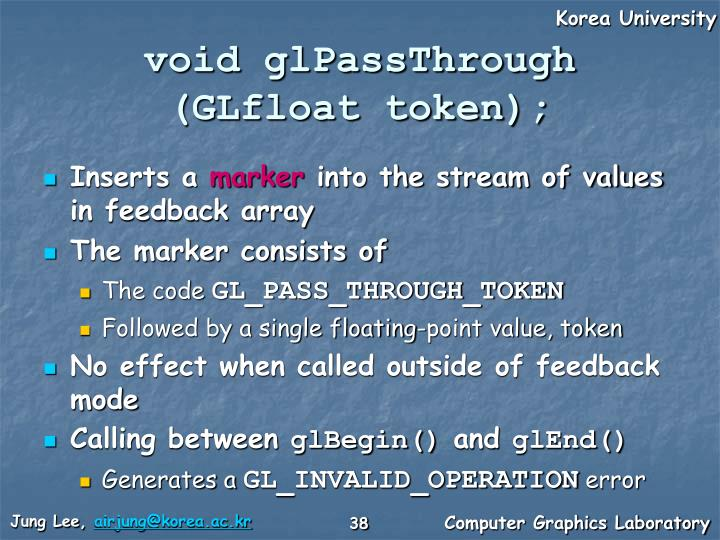 void glPassThrough
