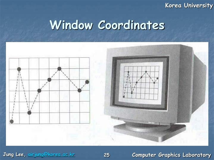 Window Coordinates