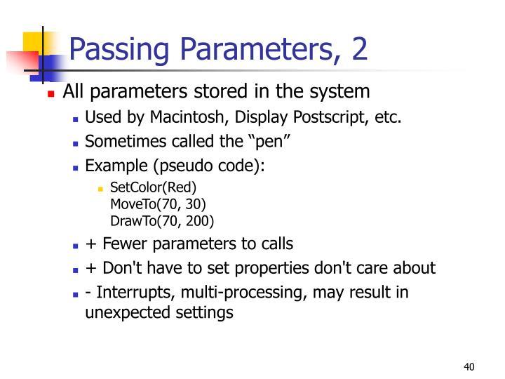 Passing Parameters, 2