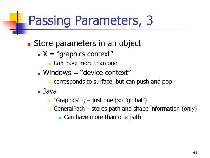 Passing Parameters, 3