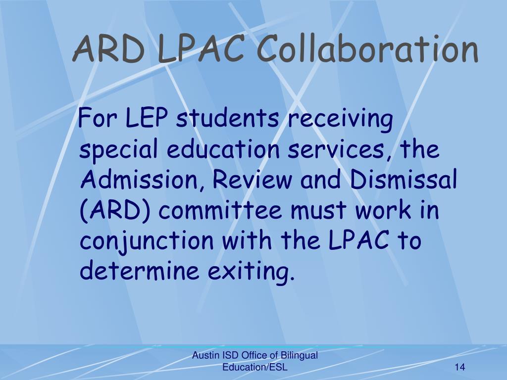 ARD LPAC Collaboration