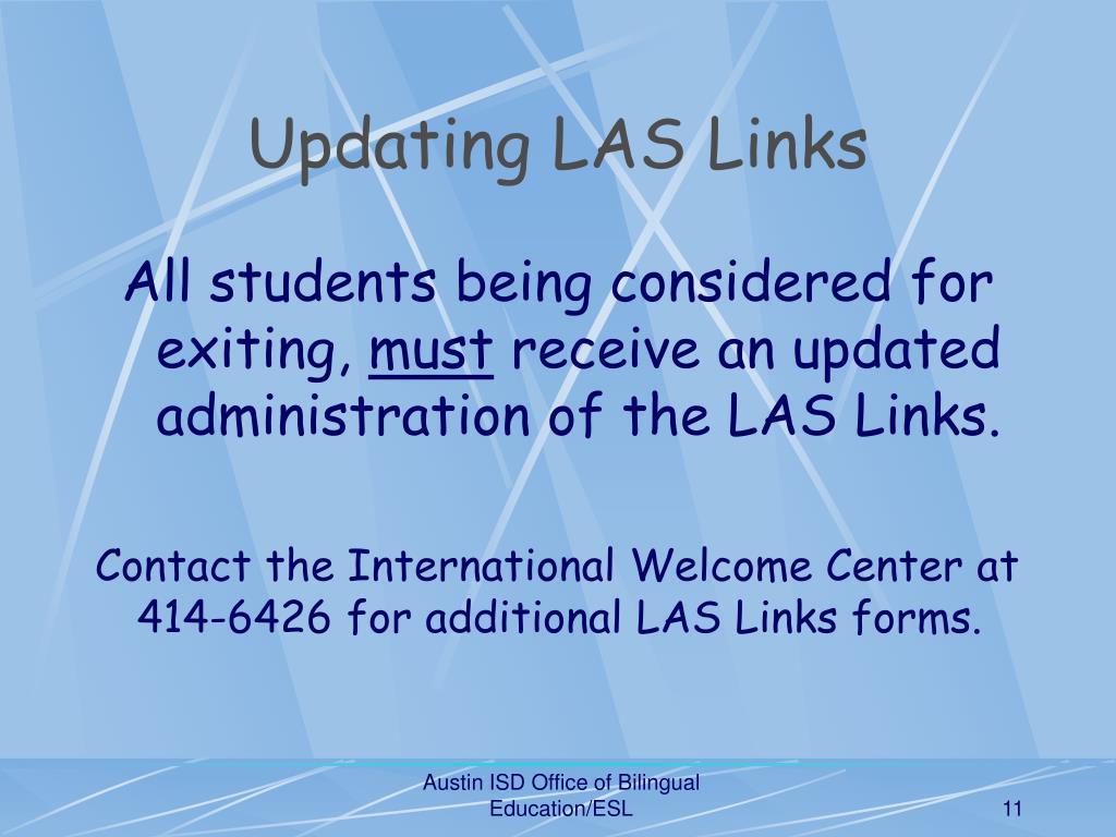Updating LAS Links