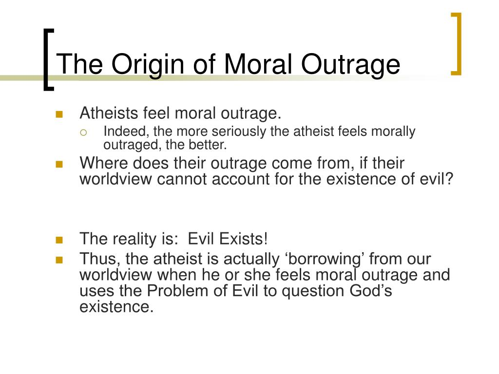 The Origin of Moral Outrage
