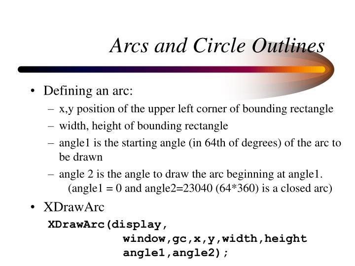 Arcs and Circle Outlines