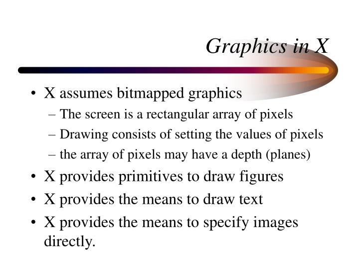 Graphics in x