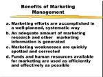 benefits of marketing management
