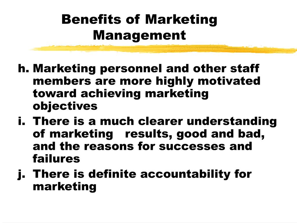 Benefits of Marketing Management