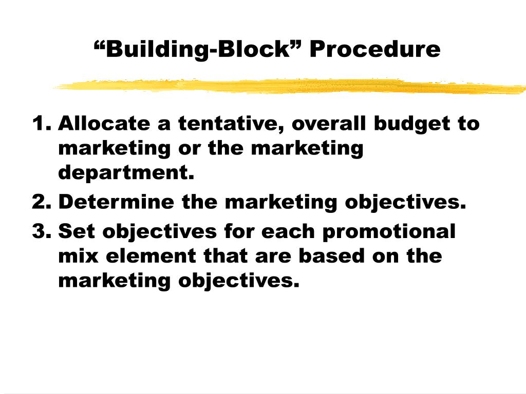 """Building-Block"" Procedure"