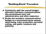 building block procedure14