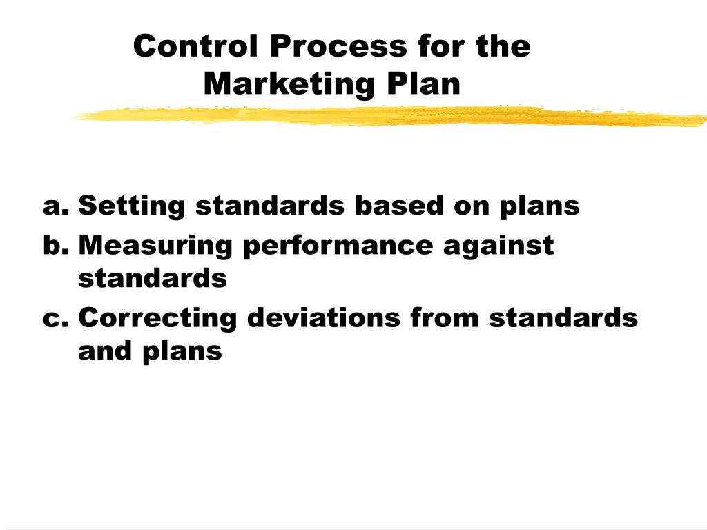 Control Process for the