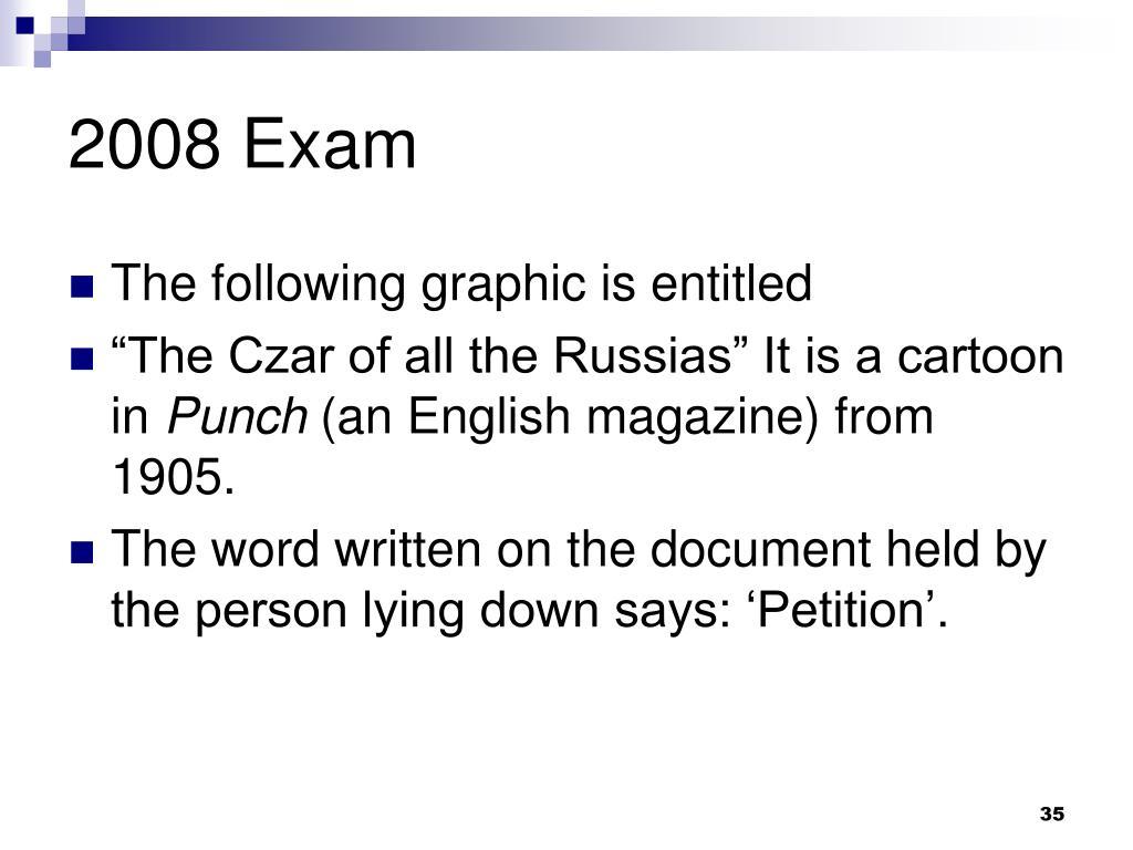 2008 Exam