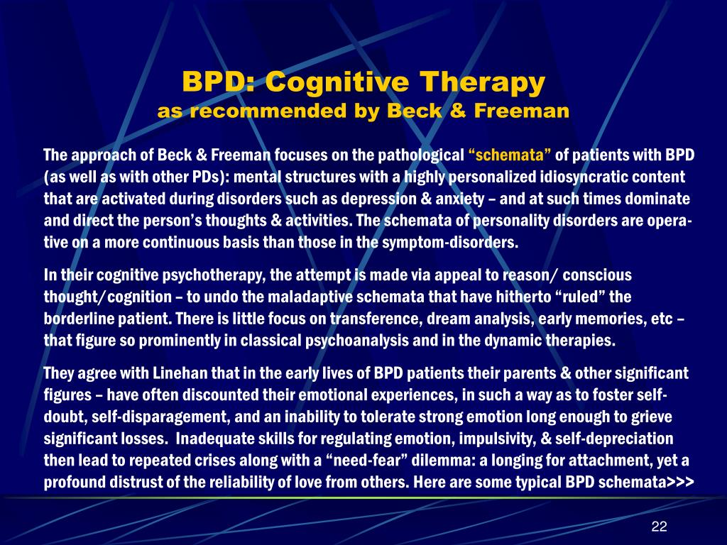 BPD: Cognitive Therapy