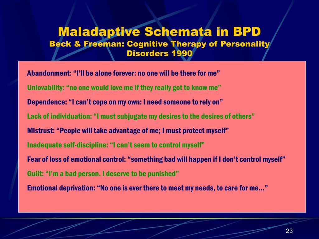 Maladaptive Schemata in BPD