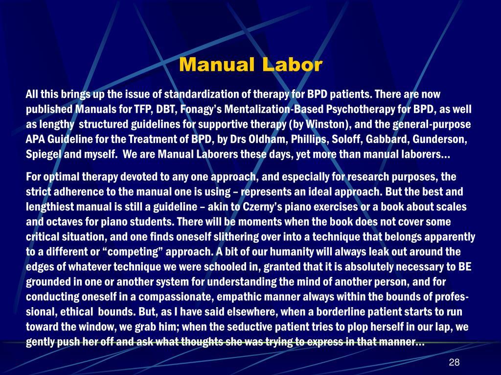 Manual Labor