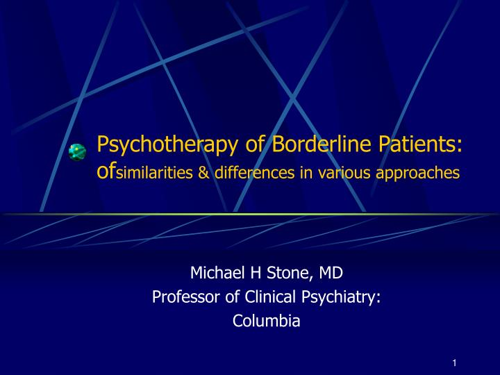 Psychotherapy of borderline patients of similarities differences in various approaches