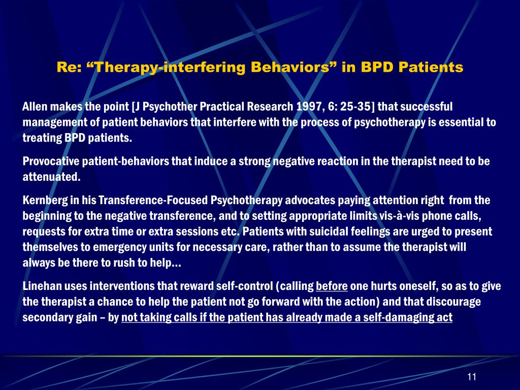 "Re: ""Therapy-interfering Behaviors"" in BPD Patients"