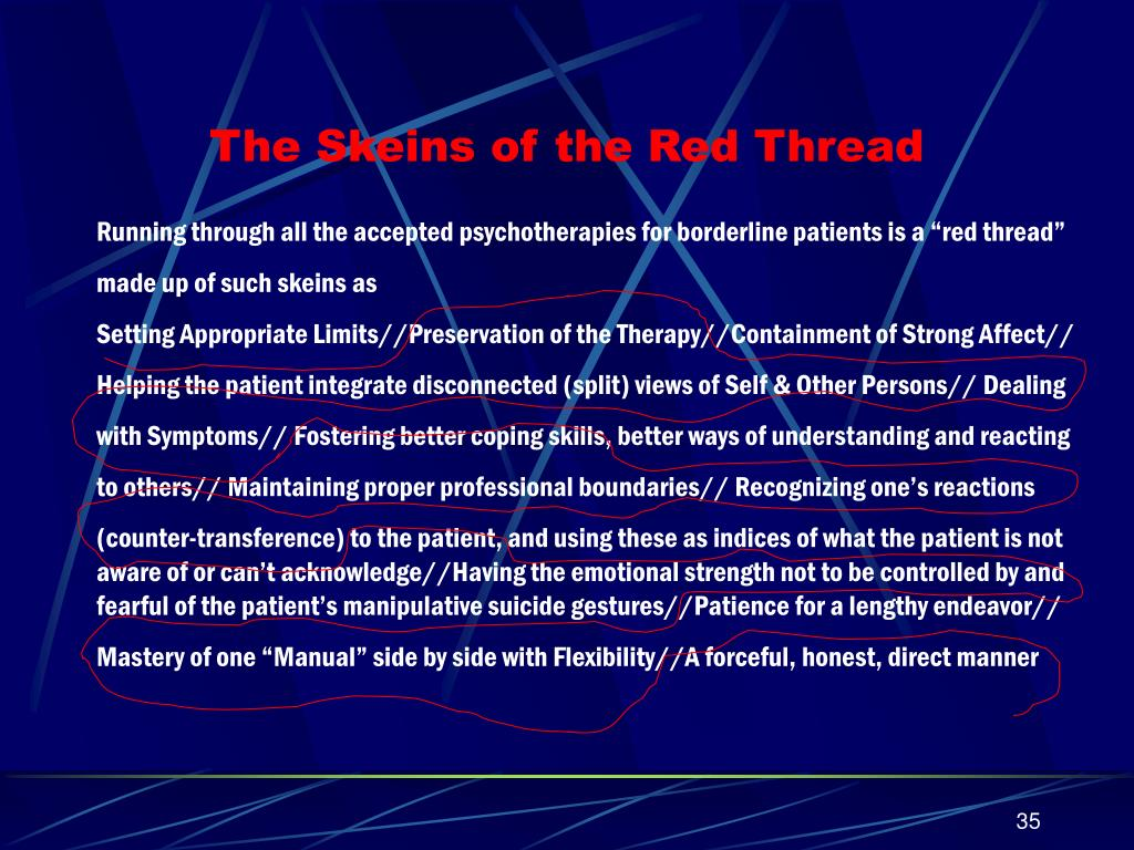The Skeins of the Red Thread