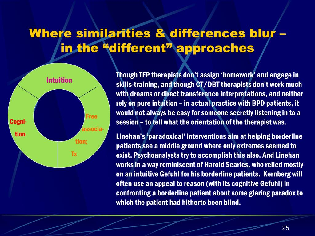 "Where similarities & differences blur – in the ""different"" approaches"