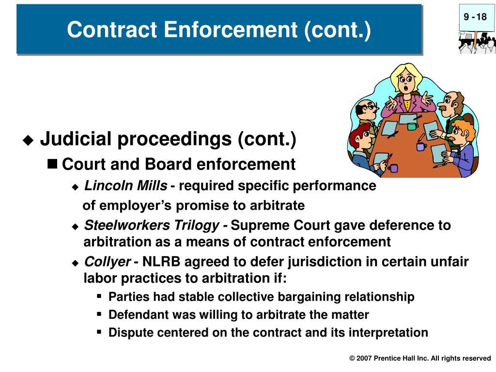 Judicial proceedings (cont.)