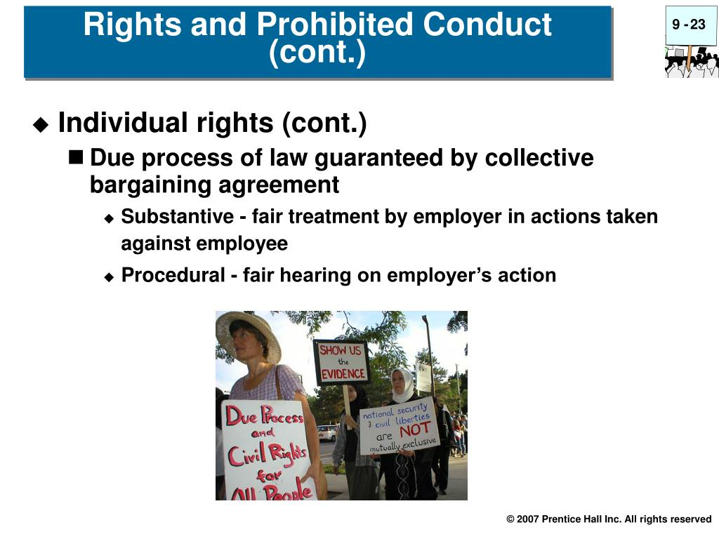 Individual rights (cont.)