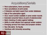 acquisitions serials