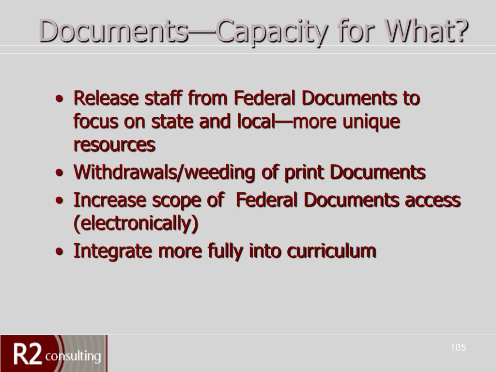 Documents—Capacity for What?