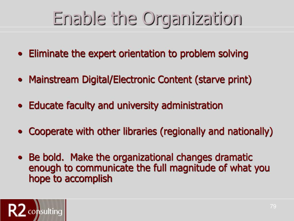 Enable the Organization