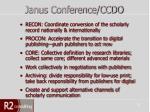 janus conference ccdo
