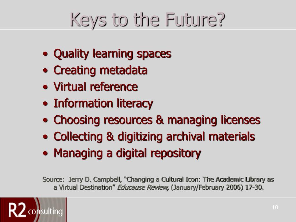 Keys to the Future?