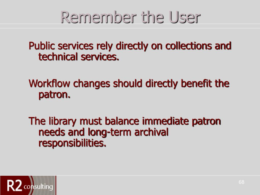 Remember the User