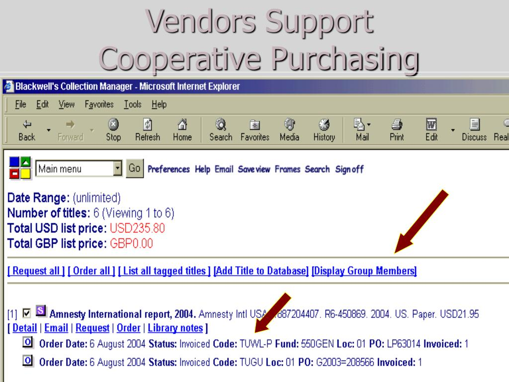 Vendors Support